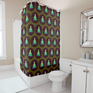 Balance Beautiful Buddha Shower Curtain