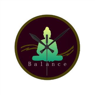 """""""Balance"""" Beautiful Buddha Wall Clock. Round Clock"""