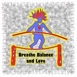 Balance Breath & Love On Gray Photo Sculpture Decoration