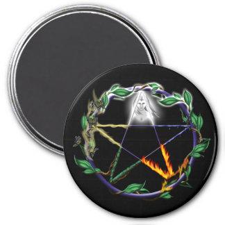 """Balance"" - Elemental Pentacle Magnet"