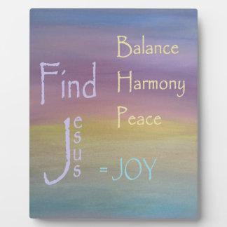 Balance Harmony Peace  ... JOY Display Plaque