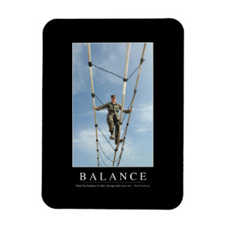 Balance: Inspirational Quote Rectangular Photo Magnet