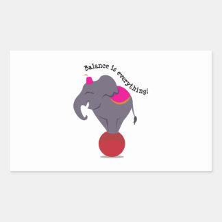 Balance Is Everything! Rectangular Sticker