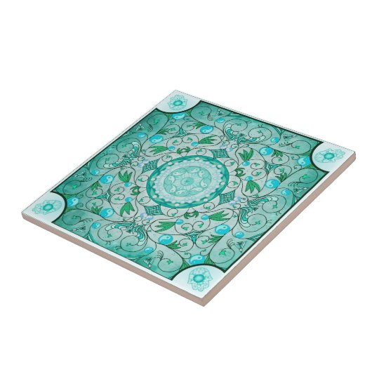 Balance of Nature Healing Mandala Ceramic Art Tile