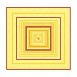 BALANCE - Red Gold Decorative Design 1 Canvas Print
