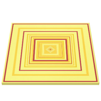 BALANCE - Red Gold Decorative Design 1, medium Canvas Print