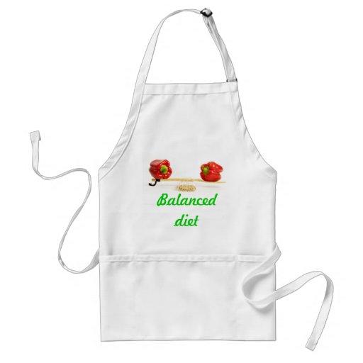 Balanced diet apron