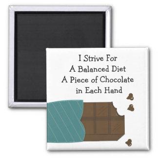 Balanced Diet - Chocolate in Each Hand Magnet