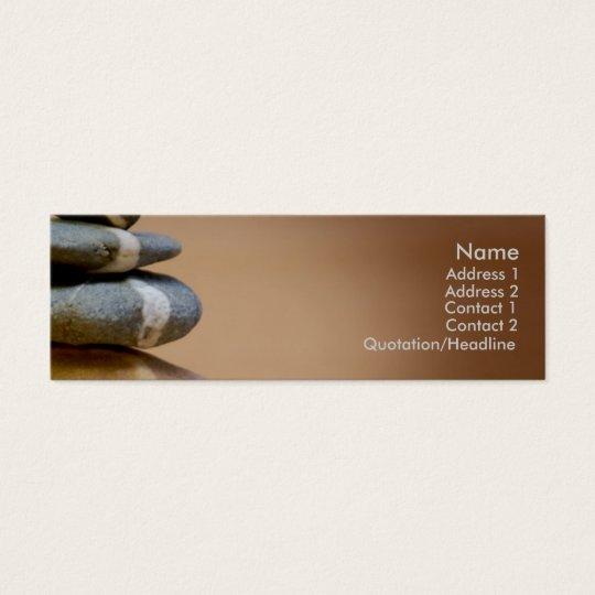 Balanced Pebbles Mini Business Card