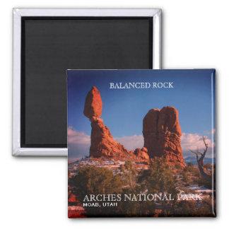 Balanced Rock, Arches National Park, Moab, Utah Square Magnet