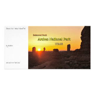 Balanced Rock - Arches Personalised Photo Card