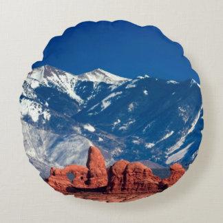 Balanced Rock Trail Round Cushion