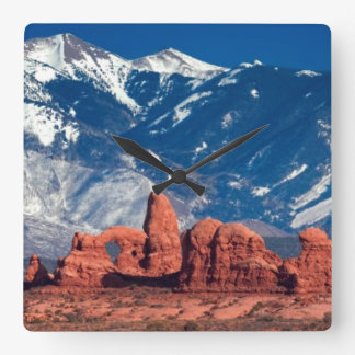 Balanced Rock Trail Square Wall Clock