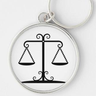 balanced scales key ring