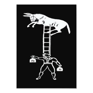 Balancing a Living Donkey ~ Invitations