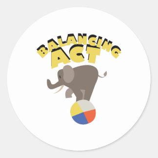 Balancing Act Round Sticker