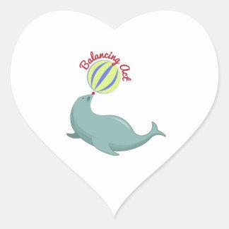 Balancing Act Heart Sticker