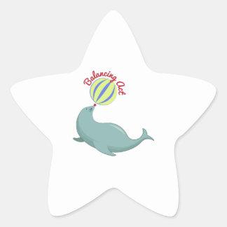 Balancing Act Star Sticker