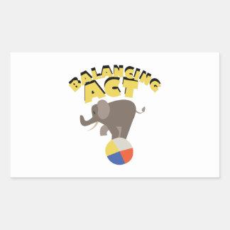 Balancing Act Rectangular Sticker