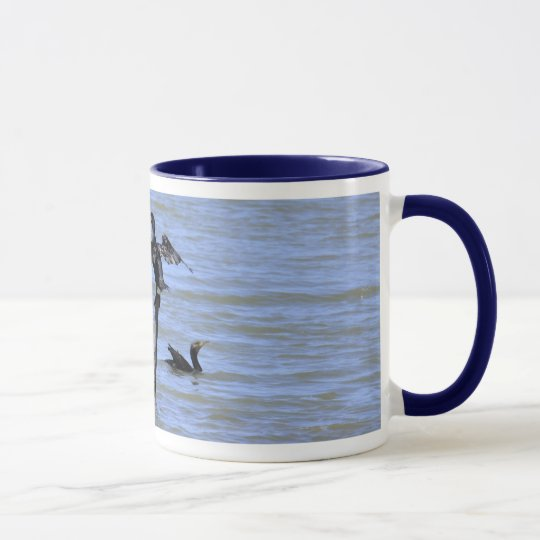 Balancing Cormorant Mug