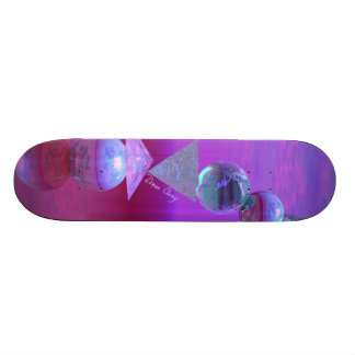 Balancing - Fuchsia and Violet Equilibrium 20.6 Cm Skateboard Deck