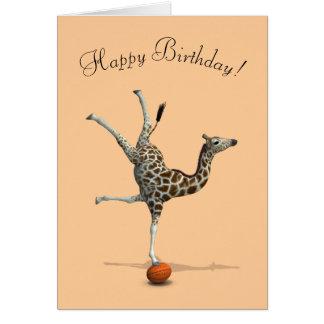 Balancing Giraffe Card
