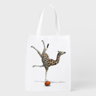 Balancing Giraffe Reusable Grocery Bag