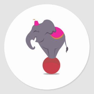 Balancing on Ball Round Sticker