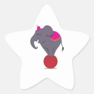 Balancing on Ball Star Sticker