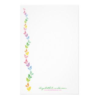 Balancing Retro Rainbow Chick Note Card Stationery