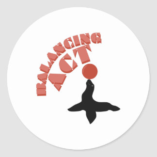 Balancing Seal Round Sticker