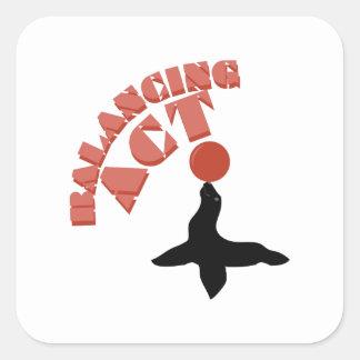 Balancing Seal Square Sticker