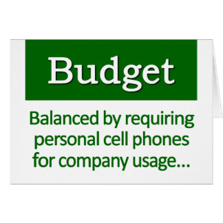 Balancing the Budget Definition Greeting Cards