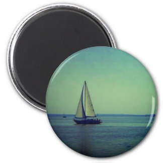 Balaton sailing 6 cm round magnet