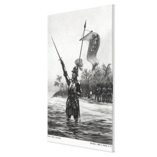 Balboa Claiming Dominion Canvas Print