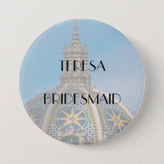 Balboa Park Mosaic Dome Bridesmaid 7.5 Cm Round Badge