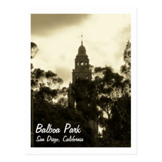 Balboa Park, San Diego CA, Postcard