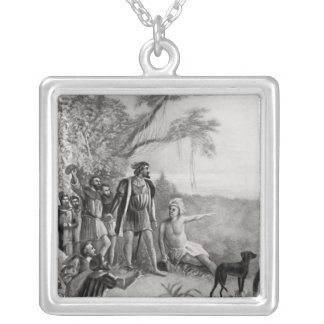 Balboa's First Sight of the Pacific Ocean Silver Plated Necklace
