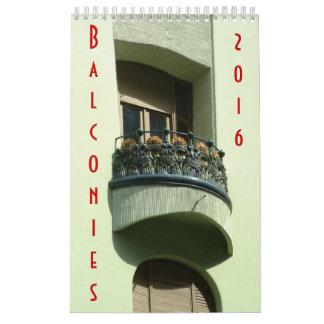 Balconies - Calendar - 2016