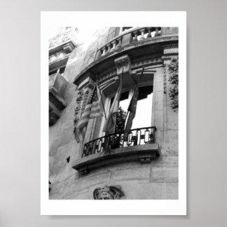 Balcony in Paris Poster