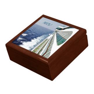 Balcony Row Cruising Monogrammed Large Square Gift Box