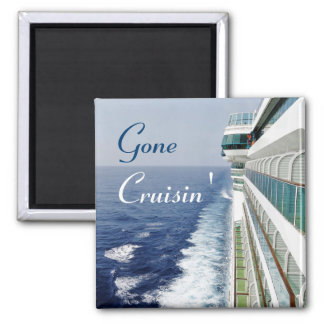 Balcony Row Gone Cruisin' Square Magnet