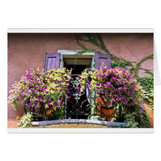 Balcony with Flowers Card
