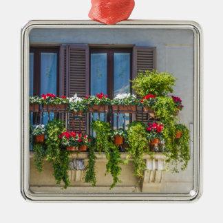 balcuny in piazza navona Silver-Colored square decoration