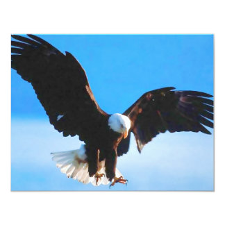 Bald American Eagle 11 Cm X 14 Cm Invitation Card