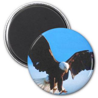 Bald American Eagle 6 Cm Round Magnet