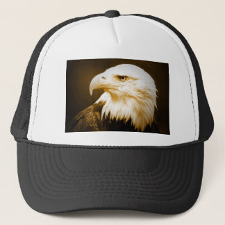 Bald American Eagle Eye Trucker Hat