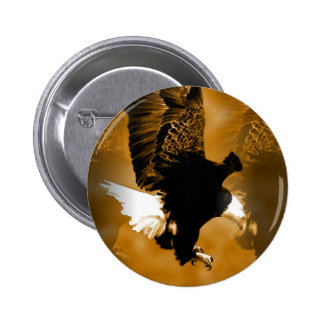 Bald American Eagle in Flight 6 Cm Round Badge