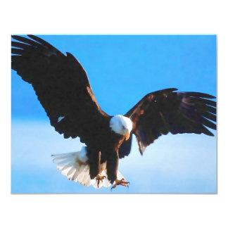 "Bald American Eagle 4.25"" X 5.5"" Invitation Card"