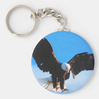 Bald American Eagle Key Ring
